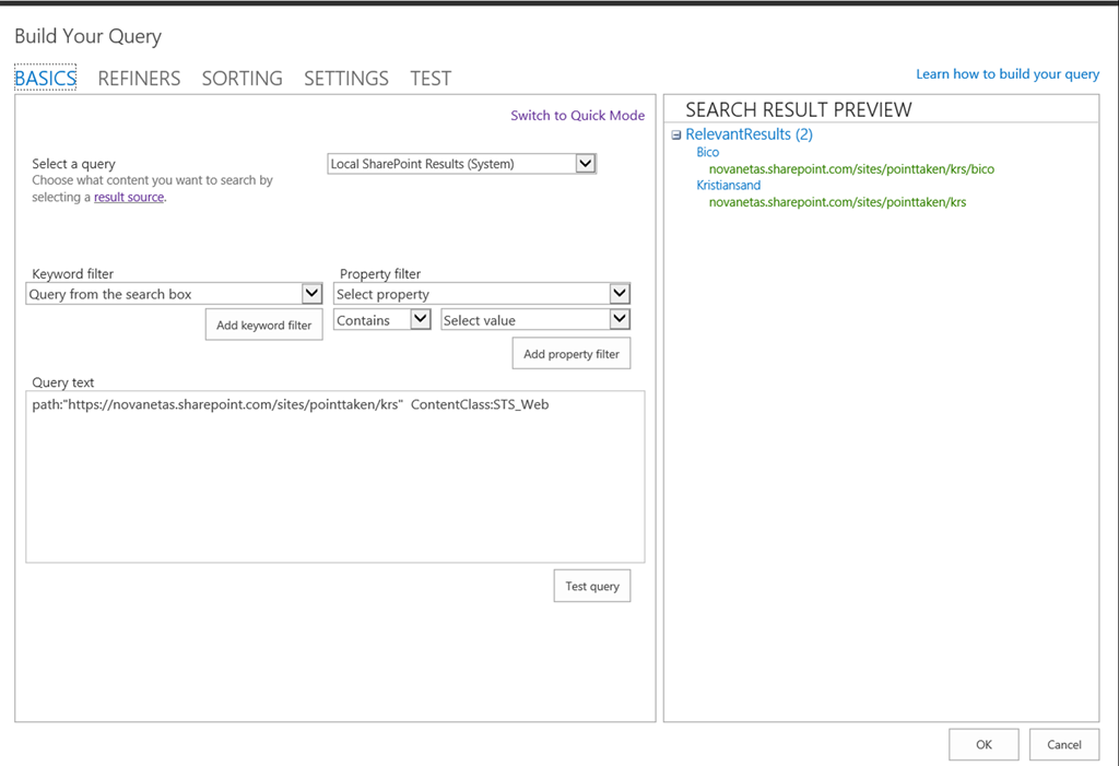 O365 -Use Content Search to display Subsites « sharepoint13 org